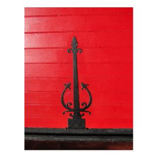 Behind the Red Door? Postcard