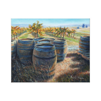 """Behind the Tasting Room"" Canvas Print"