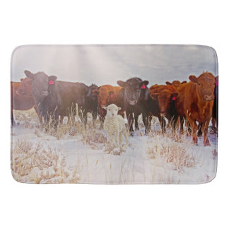 Behold! Cattle and Lamb Bathmat