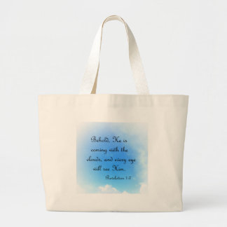 Behold He is Coming Large Tote Bag