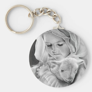Behold the Lamb of God Keychain