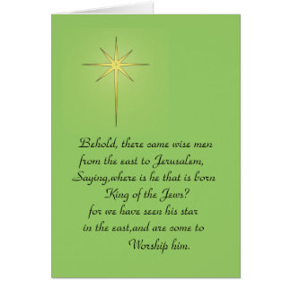 BEHOLD WISE MEN CARD