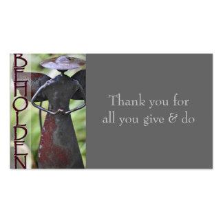 BEHOLDEN appreciation card Business Card