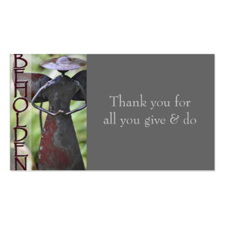 BEHOLDEN appreciation card Pack Of Standard Business Cards