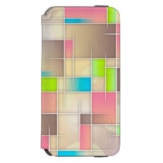 Beige abstract Art Case Incipio Watson™ iPhone 6 Wallet Case