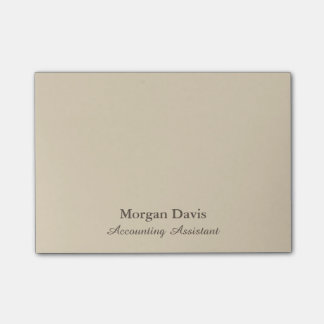 Beige Accounting Assistant Post-it Notes
