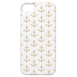 Beige Anchor Pattern Nautical Sailor Case For The iPhone 5