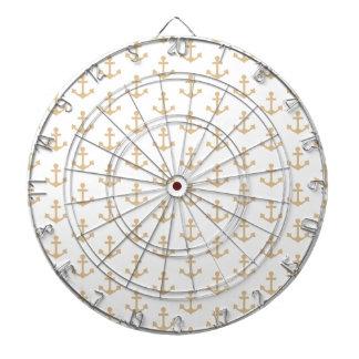 Beige Anchor Pattern Nautical Sailor Dartboard