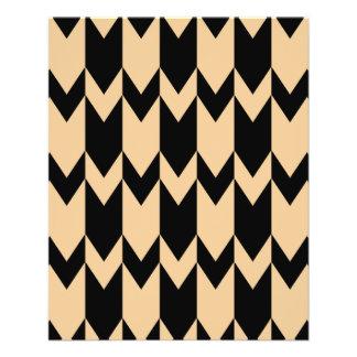 Beige and Black Chevron Pattern. Flyer