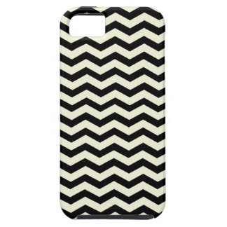 Beige And Black Zigzag Chevron Pattern Case For The iPhone 5