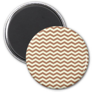 Beige And Brown Zigzag Chevron Pattern Magnets