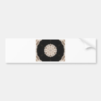 beige and cream floral abstract art bumper sticker