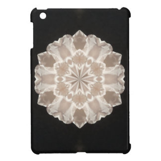 beige and cream floral abstract art iPad mini cover