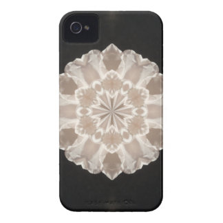 beige and cream floral abstract art iPhone 4 covers