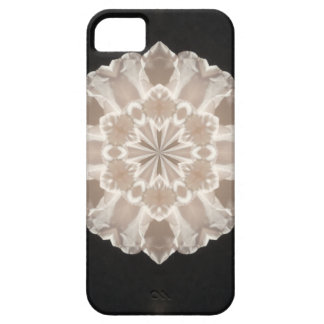 beige and cream floral abstract art iPhone 5 covers