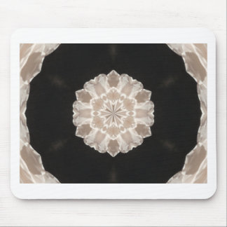 beige and cream floral abstract art mouse pad