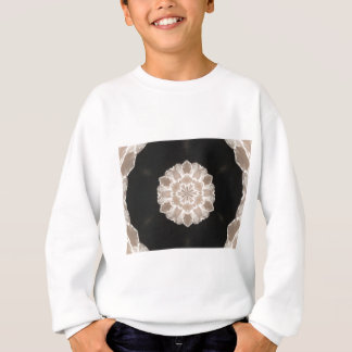 beige and cream floral abstract art sweatshirt
