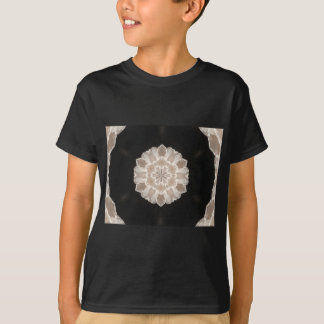 beige and cream floral abstract art T-Shirt