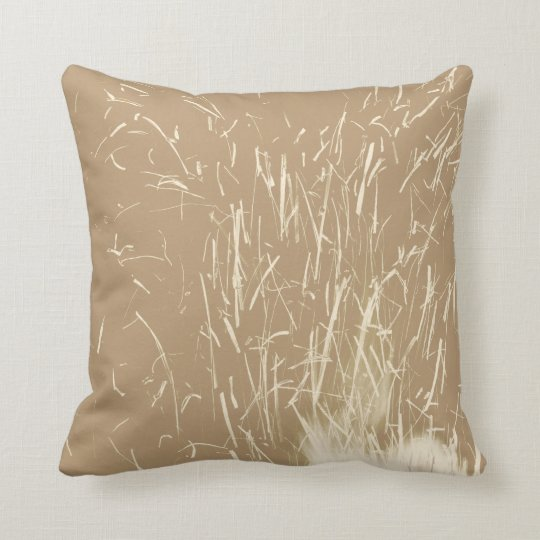 Beige and Cream Sparks Throw Pillow