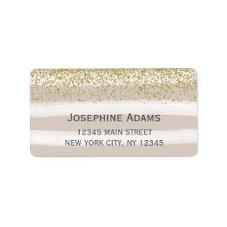 Beige and Gold Address Labels