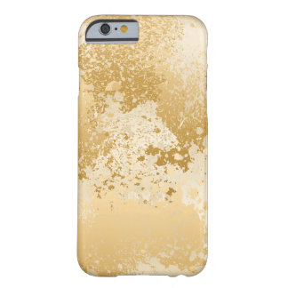 Beige and Gold Paint Splatter Barely There iPhone 6 Case
