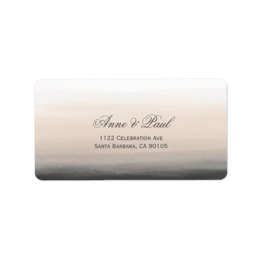 Beige and grey ombre Address Labels