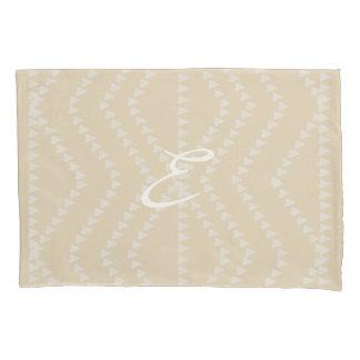 Beige And Lavender Pattern  Monogram Pillow Case