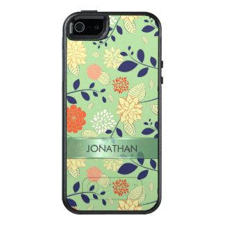 Beige And Orange Flowers OtterBox iPhone 5/5s/SE Case