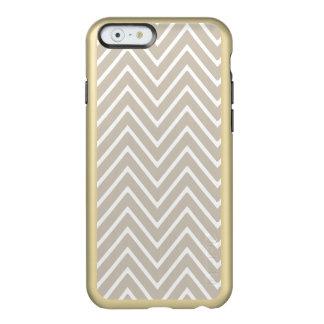 Beige and White Chevron Pattern 2 Incipio Feather® Shine iPhone 6 Case