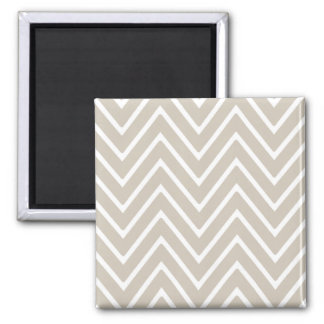 Beige and White Chevron Pattern 2 Refrigerator Magnets