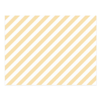 Beige and White Diagonal Stripes. Postcard