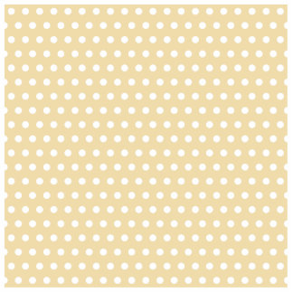 Beige and White Polka Dot Pattern. Spotty. Standing Photo Sculpture