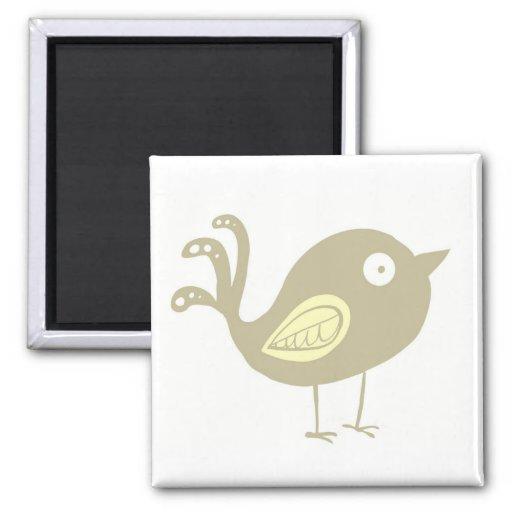 Beige Bird Refrigerator Magnet