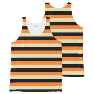 Beige, Black and Orange Stripes