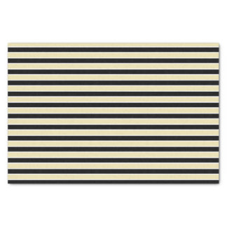 Beige, Black and White Stripes Tissue Paper