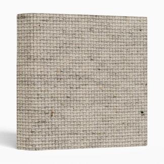 Beige Burlap Texture 3 Ring Binders