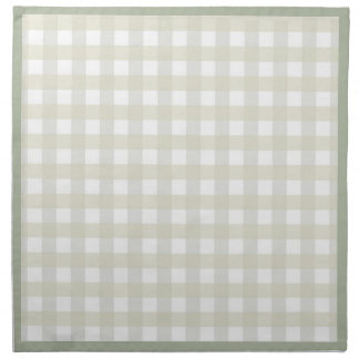 Beige checkered Cloth Napkins
