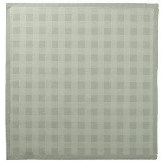 Beige checkered Cloth Napkins (2)