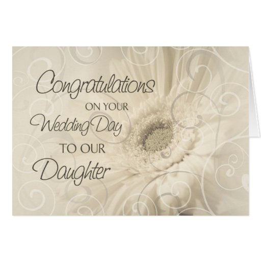 Perfect Wedding Gift For Your Daughter : Beige Daughter Wedding Congratulations Card Zazzle