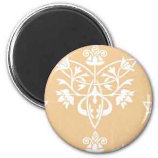 Beige Deco 2 Inch Round Magnet