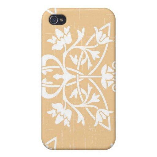Beige Deco iPhone 4 Cover
