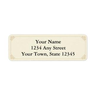 Beige & Ecru Printed Return Address Labels