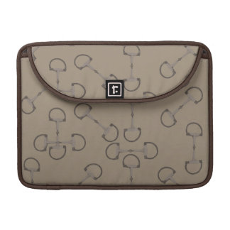 Beige Equestrian Horse Bits Sleeve For MacBook Pro
