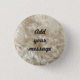 Beige Faux Fur Print 0390 1 Inch Round Button