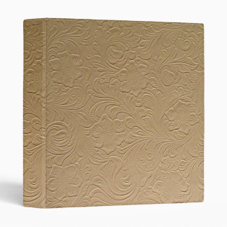 beige faux tooled leather binder