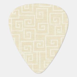 Beige fleuri onglet de guitare