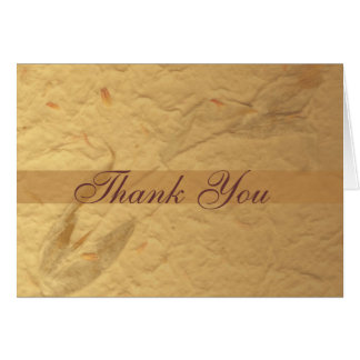 Beige Floral Thank You Card