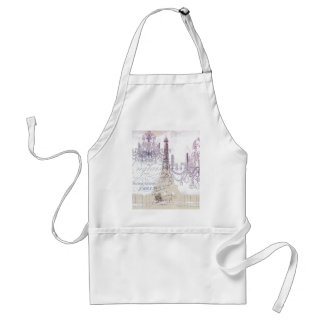 beige french scripts chandelier paris eiffel tower standard apron