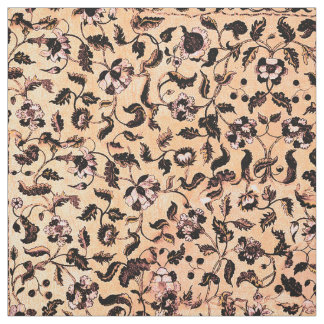 Beige Girly Floral Pattern Fabric