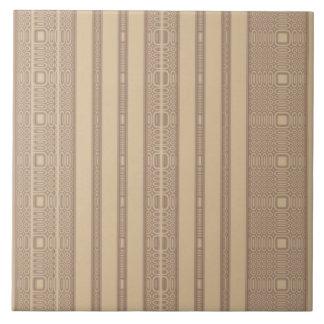 Beige Irregular Stripe Tile